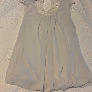 Tops - layered white sheer/cotton top with lace back